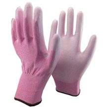 Brand MHR 13/15 gauge hot sale soft gardening use sandy glove water pu coated glove