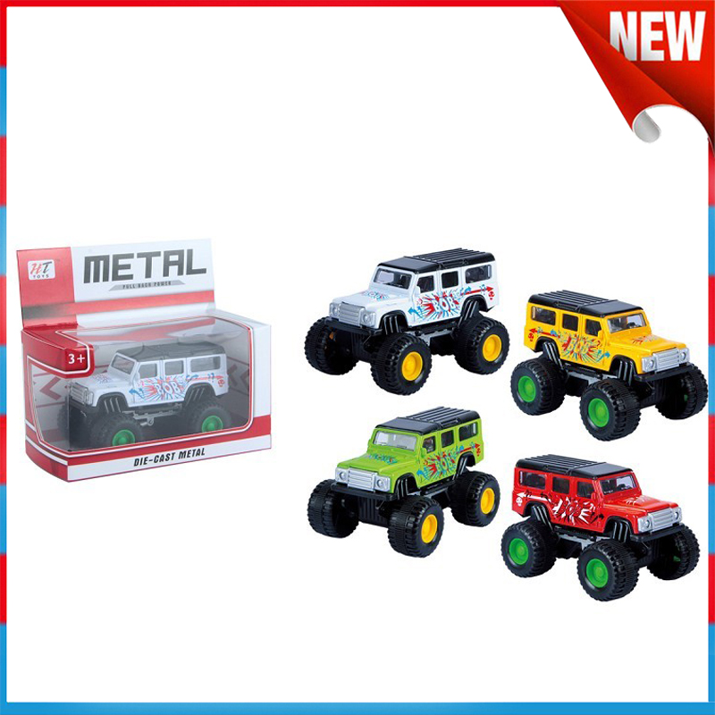 die-cast metal big wheels land rover jeep cars toys