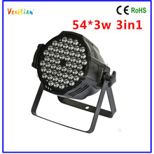 beauty pageant decorations led stage light led par64 light,full color 54 3w rgb led light par