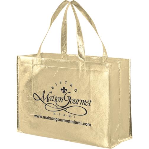 Metallic Foil Promotional Pp Non Woven Shopping Bag Wholesale 550a78ea0b7d9