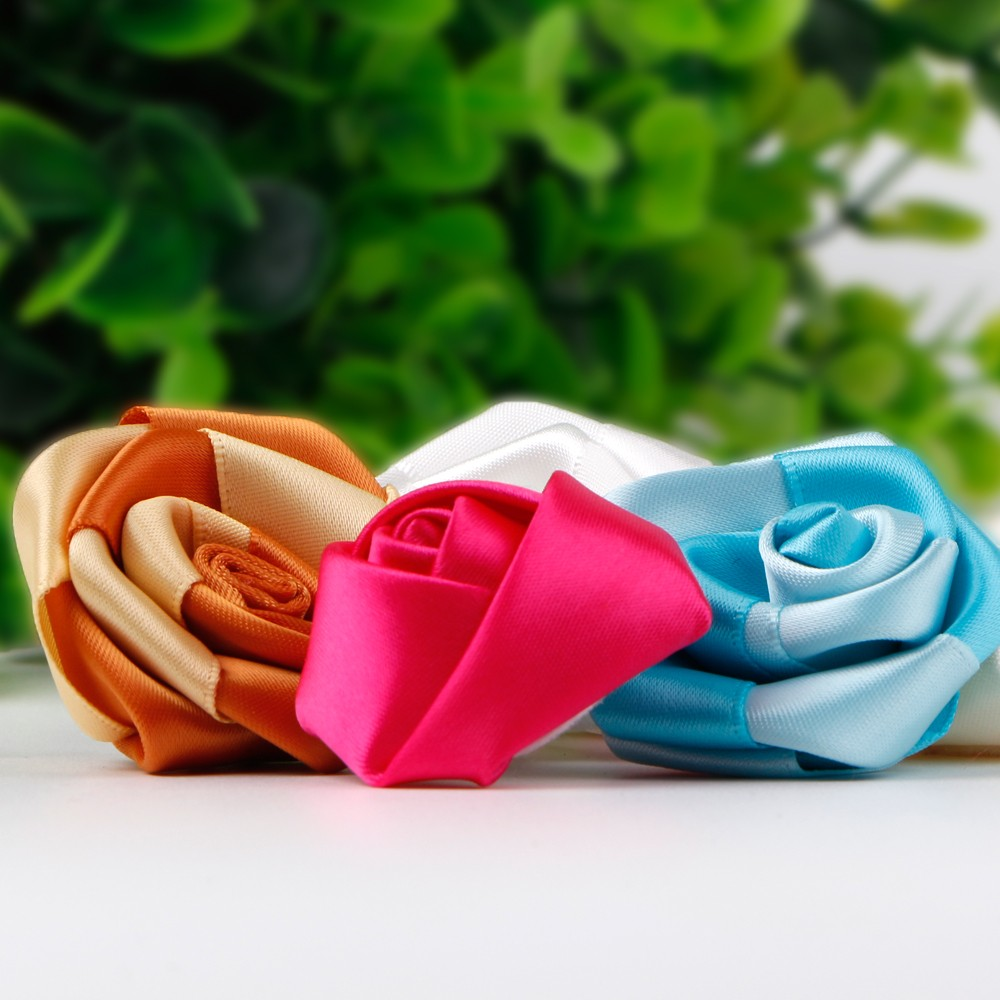 satin ribbon artificial rose flower