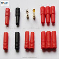 RC Triple 3.5mm Gold plated Connector with Red Housing