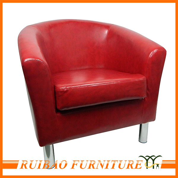 High Quality Colored Luxury Leather Armchair Sofa For One Person