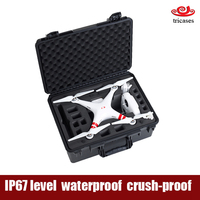 Tricases waterproof shockproof hard plastic dji phantom 2 vision and 2 vision+ case