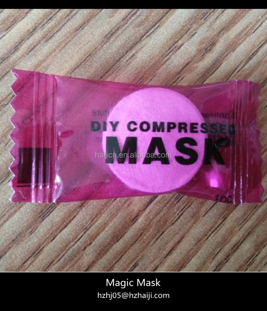 Disposable Beauty DIY Compressed Facial Mask Sheet