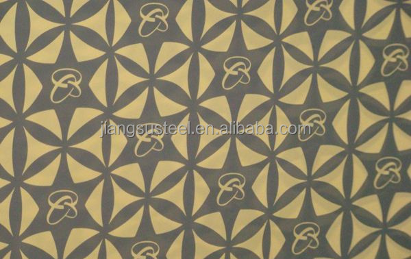 ASTM 3d mellow black wood grain embossed stainless steel pattern sheet