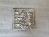 cast iron fish table trivet