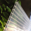 Plastic building material polycarbonate hollow twin wall sheet uv coated
