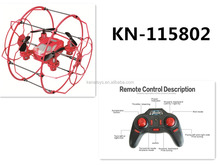 Hot sale 2.4G RC Climbling UFO ball colorful Quadcopter toys for kids