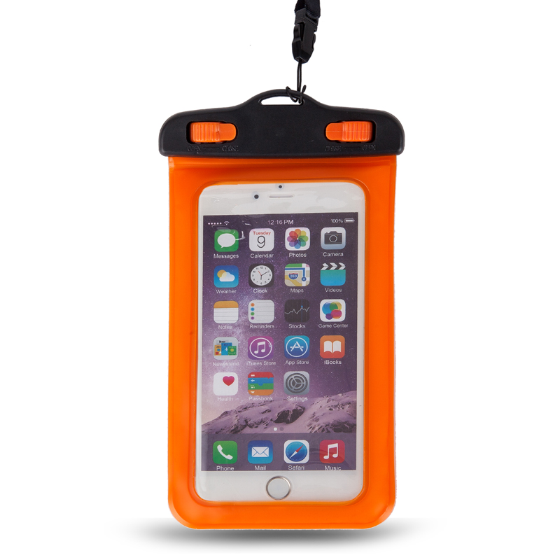 Hot Free Sample IPX8 Colored PVC Waterproof Dry Phone Bag For iPhone 8 Plus, Waterproof Case