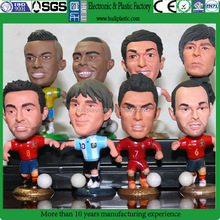 3D custom lifelike football figure,OEM plastic football player figure,OEM realistic plastic miniature football figures factory