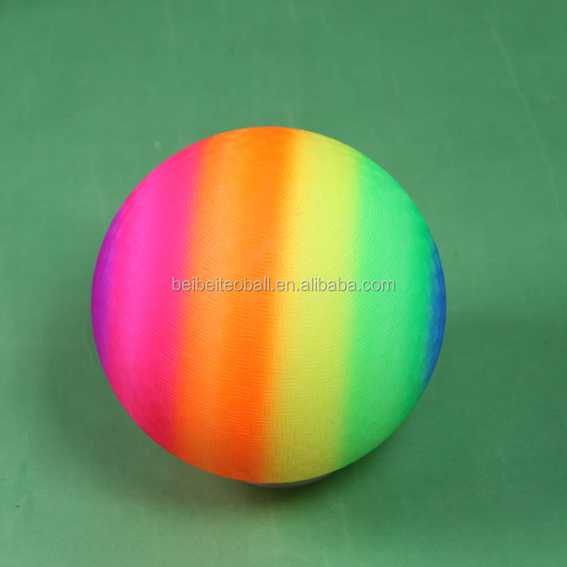 Wholesales OEM logo High bouncing Rainbow beach ball