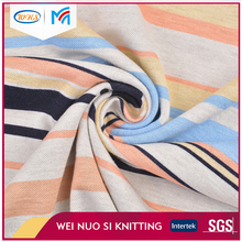 High quality Design different patterns colorful Knit stripe jacquard fabric