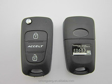 replacement auto key shell for hyundai accent flip remote car key cover