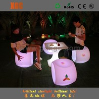 outdoor plastic color changing led new model furniture living room