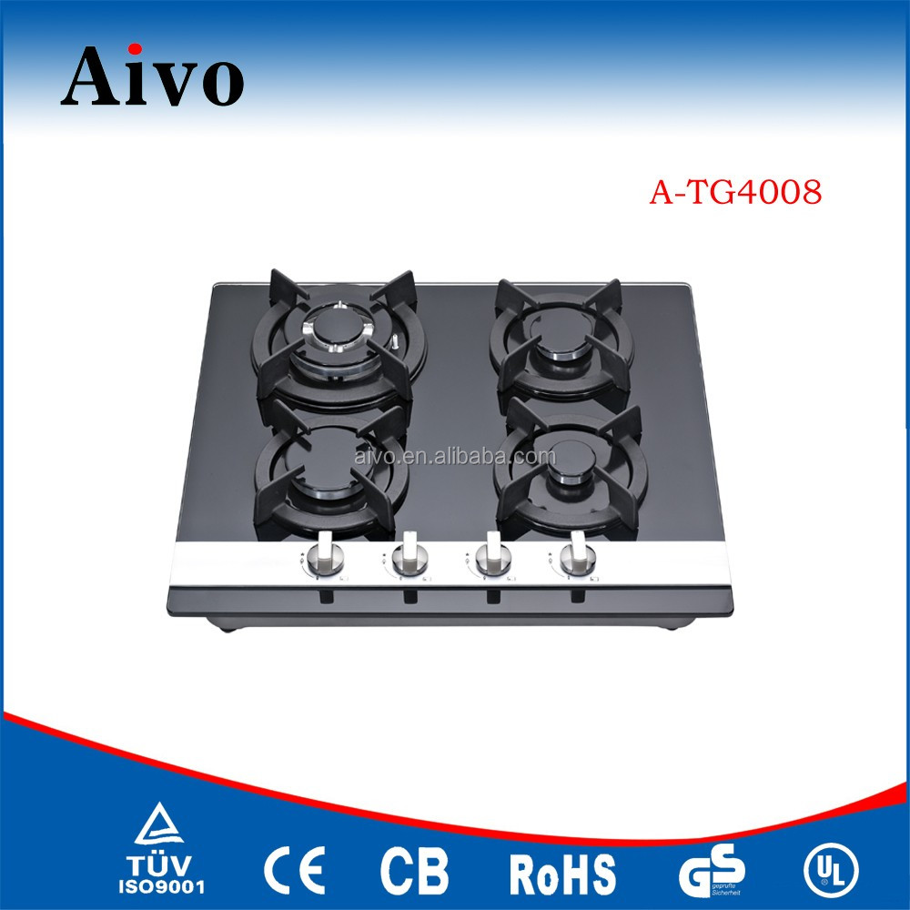Commercial kitchen appliance Tempered Glass gas hob,gas cooker,gas stove with glass top
