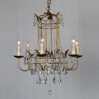 new candle featured crystal chandelier,europen iron chandelier lamp