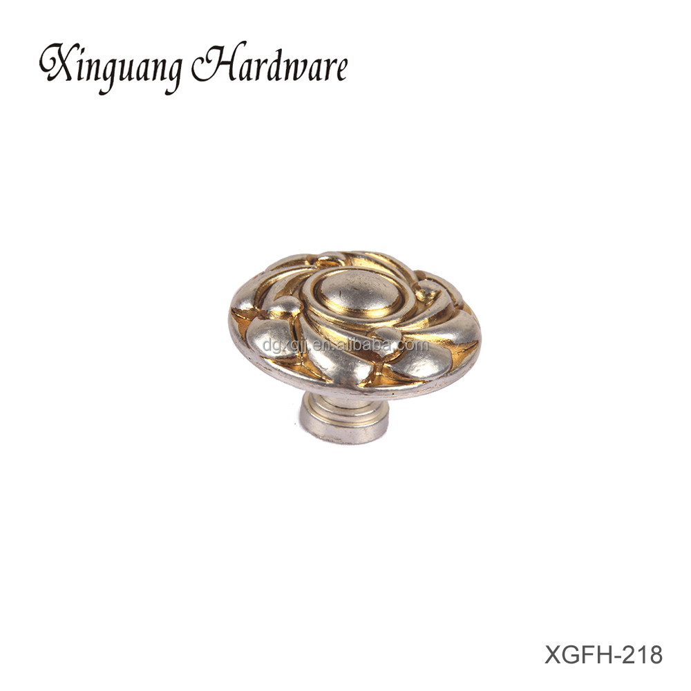Dongguan Rounded Rose Shaped Zinc-alloy Cabinet Furniture Accessory Cabinet Knob Price