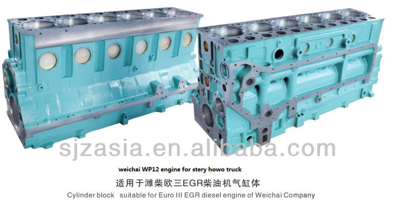 weichai WP12 Diesel Engine Cylinder Block for Steyr Howo truck