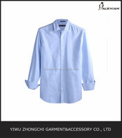 pure blue Oxford spinning long sleeve shirts