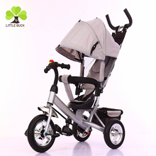 2017 new products Double Baby walker Trike, Kids Tricycle Two Seat, Double Tricycles for Children with trailer