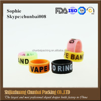 decorative and protection mod vape band silicone custom rubber vape rings for ecig bottle