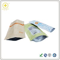 Heat seal resealable plastic food packaging bag for snacks