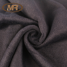 light camel 10% Rayon, 90% Polyester brushed mohair fleece wool woolen fabric for overcoat