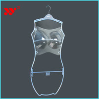 clear transparent PS material plastic swimsuit hanger swimwear hanger