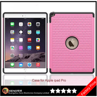 Keno For iPad Pro 12.9 Case, PC+Silicone Hybrid Bling Diamond Back Cover Case for Apple iPad Pro 12.9 Inch