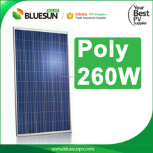 Bluesun no antidumping tax stock poly 250w 250watt 260w 260watt solar roof panel