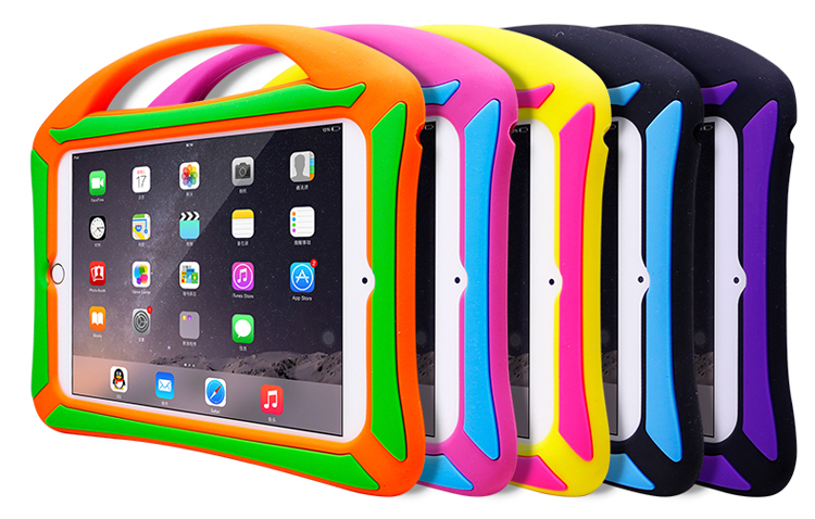 Kids Children Protective Shockproof Silicone Laptop Case For iPad Air/Air2