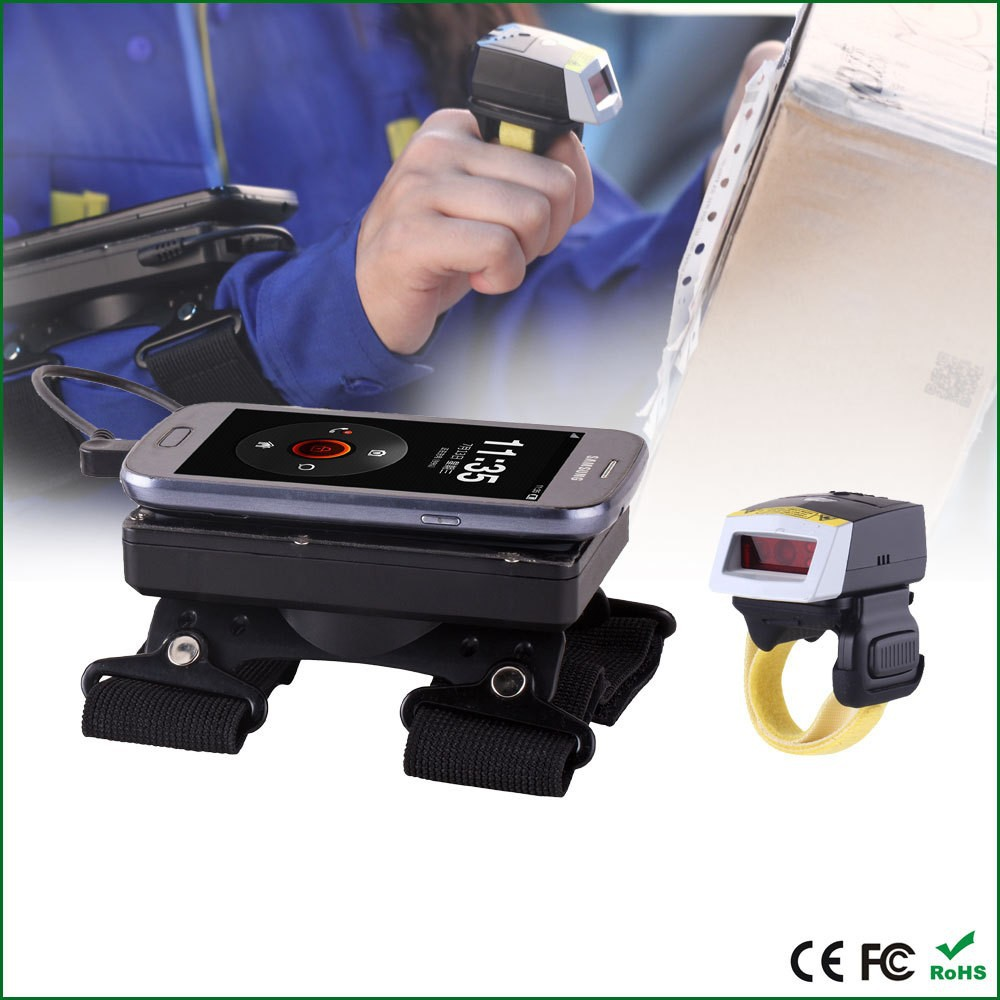 WT01 Wearable Data Terminal with bluetooth ring scanner FS01 for mobile phone barcode data collection