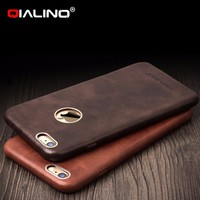 QIALINO Cases For Apple Resellers, Perfect Fit Premium Genuine Leather Back Case For iPhone 6 6s Plus