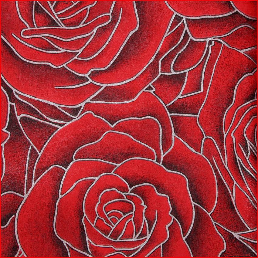 Rosa vermelha rom ntico papel de parede vinil clássico