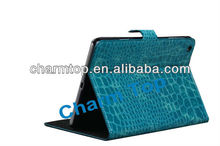 Crocodile Leather Skin Stand Case For iPad Mini