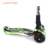 China factory children toy foldable T bar lighting wheel patinete scooter 3 wheels