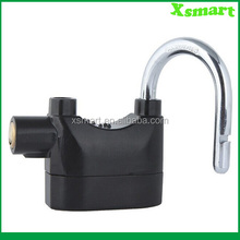 Siren Alarm Lock Anti-Theft Security System Door Motor Bike Bicycle Padlock 120dB with 3 Keys (Black)