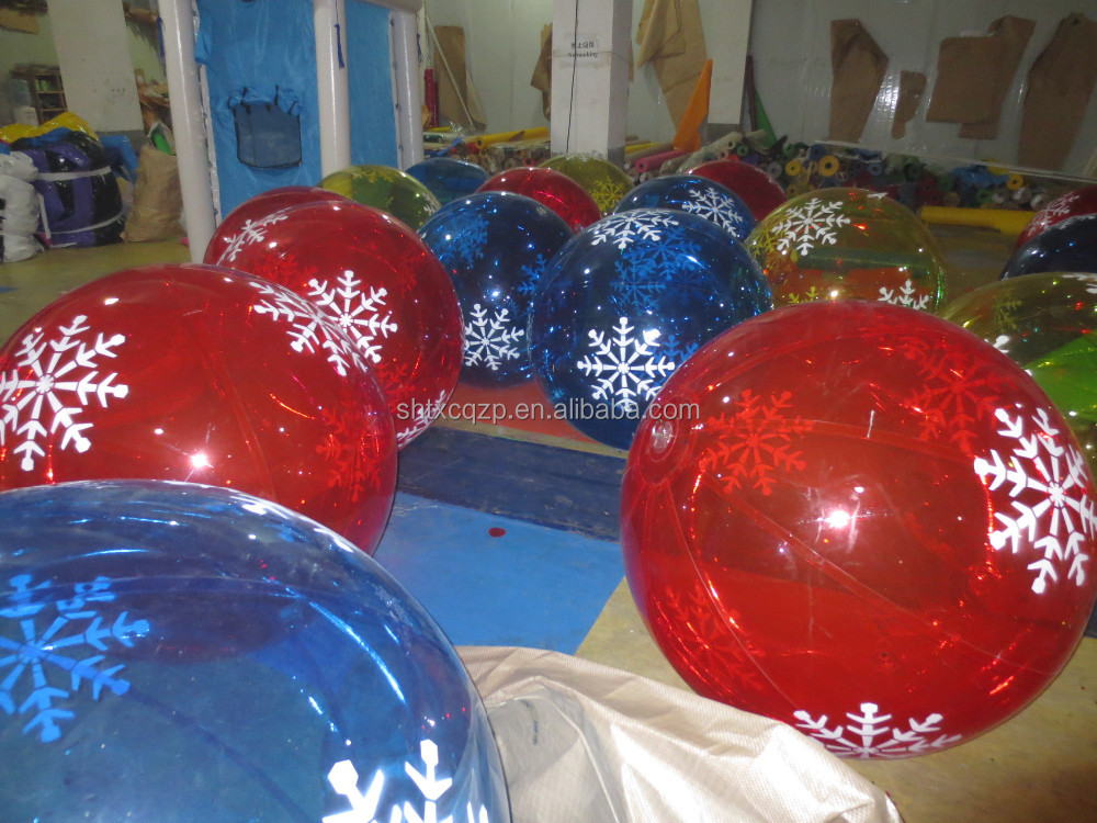 inflatable christmas ornaments ball / christmas inflatable ball/Mall Christmas ornaments