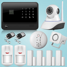 New Product Arrived GS-G90B WIFI GSM ICD APP Controlled Home Security Alarm System with HD IP Camera