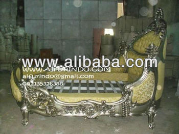 sell bed silver mahogany reproduction classic french furniture- CIMG8298-bed silver antique french furniture indonesia supplier