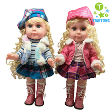 14inch baby toys for kids fashion design for girls vinyl dolls