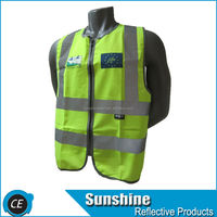 LARGE ANSI CLASS 2 Bordered Reflective Tape Safety Vest