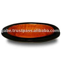 Fruits Bowl Oval Shape Solid Wood Mahogany