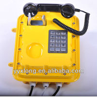 Wall hanging wireless public telephone with speaker quality assurance