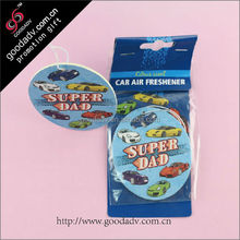bulk unique paper cardboard air freshener / custom scents wholesale air freshener