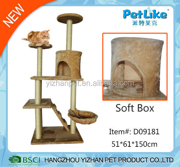Wholesale Cat Tree House Cat Scratching Tree Luxury High Mansion Cat Tree