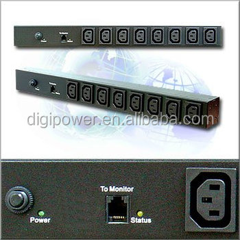 Power distribution unit, 8 ports 230V 10 amp