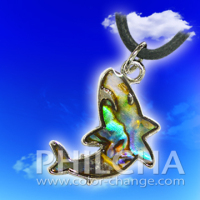Paua Shell Jewelry Shark Pendant Necklace