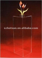 Flower display stand acrylic flower pedestal